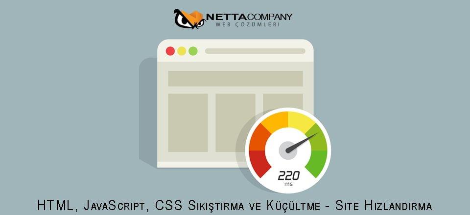 HTML, JavaScript, CSS Sıkıştırma ve Küçültme